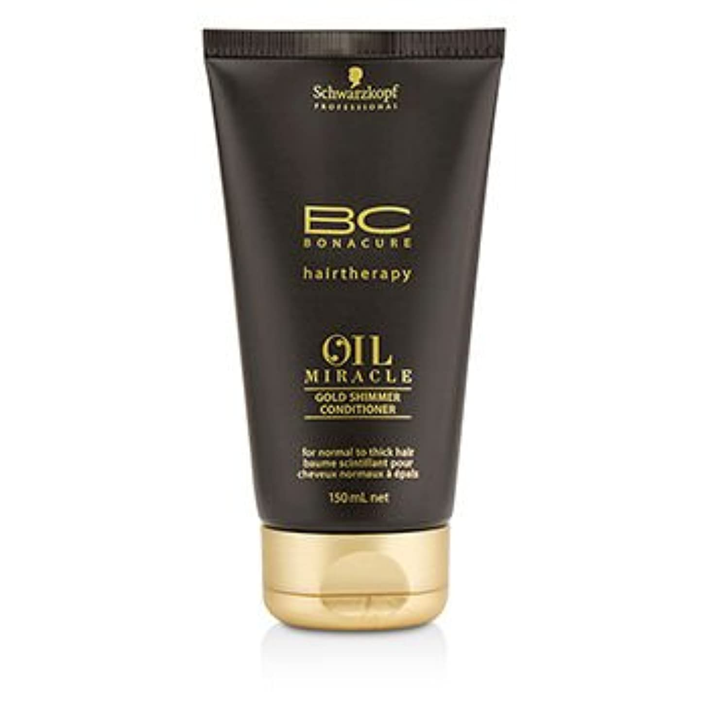 プレゼンテーションアパート短命[Schwarzkopf] BC Oil Miracle Gold Shimmer Conditioner (For Normal to Thick Hair) 150ml/5oz