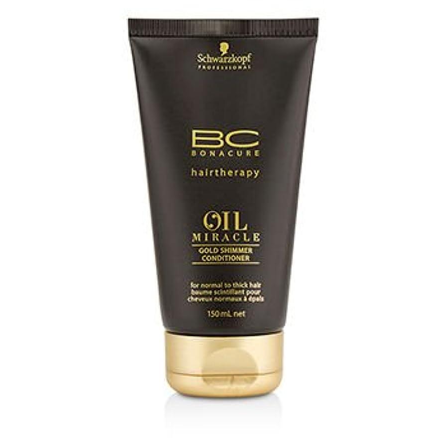 打たれたトラック耐えられるおびえた[Schwarzkopf] BC Oil Miracle Gold Shimmer Conditioner (For Normal to Thick Hair) 150ml/5oz