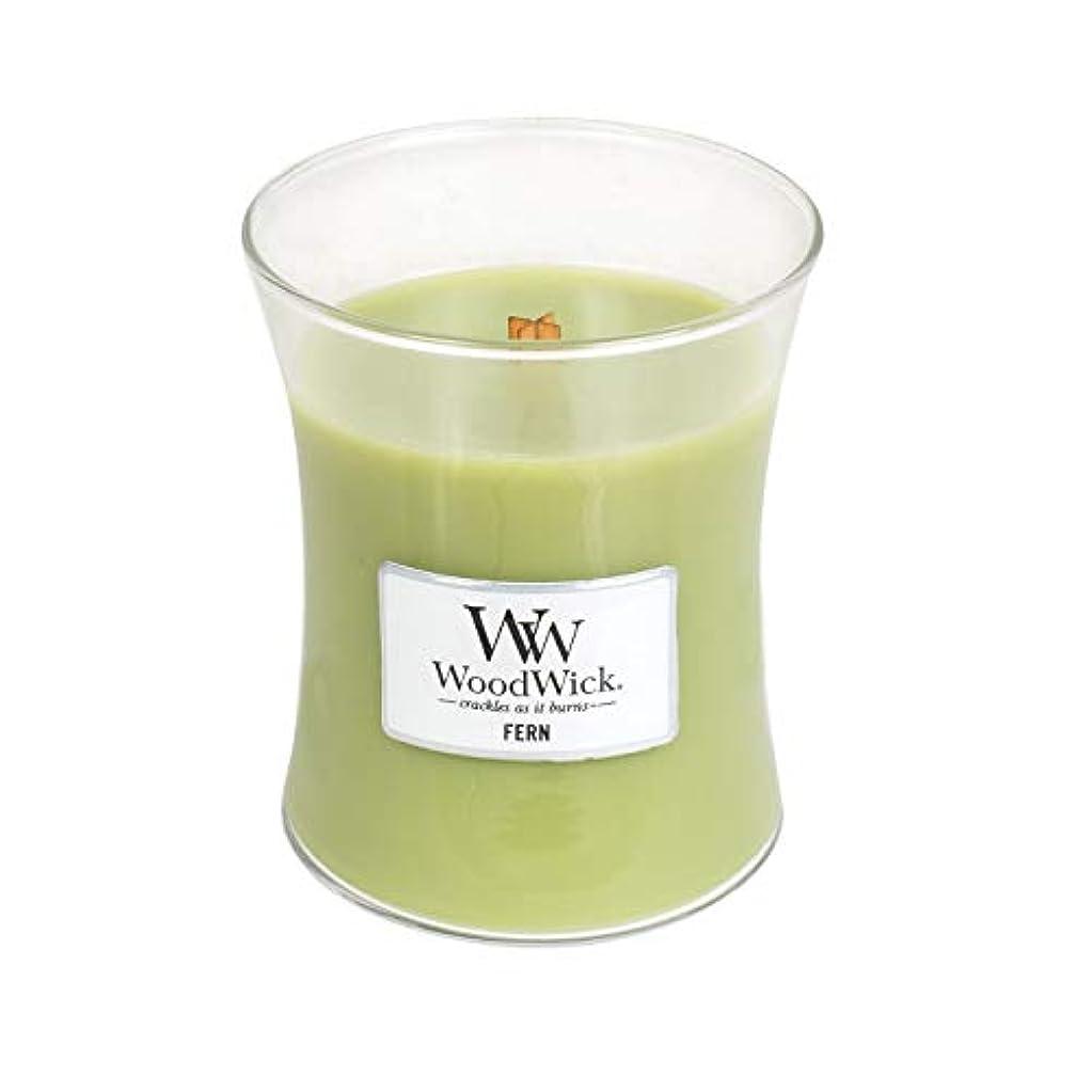 脚毎月ブラケット(Medium, Fern) - WoodWick Medium Hourglass Scented Candle, Fern