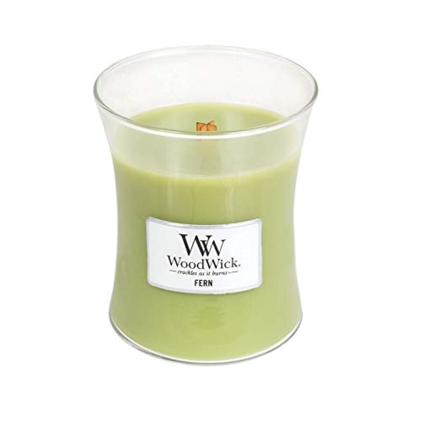 ミキサー焦げ珍しい(Medium, Fern) - WoodWick Medium Hourglass Scented Candle, Fern