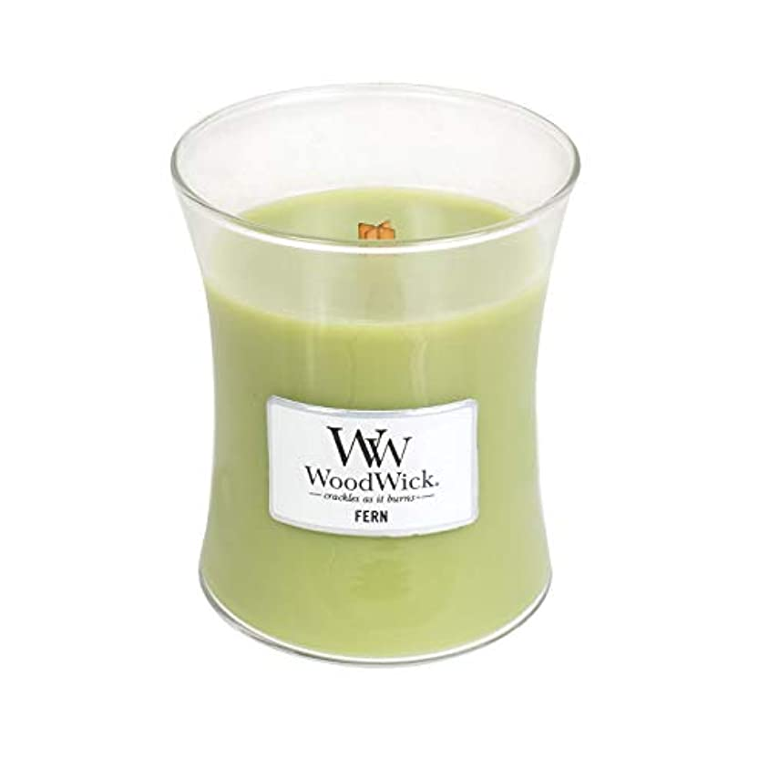 侵入最大の水星(Medium, Fern) - WoodWick Medium Hourglass Scented Candle, Fern
