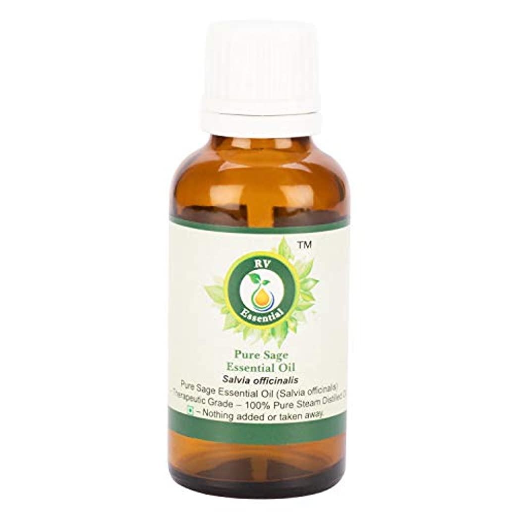 驚かす人種やめるピュアセージエッセンシャルオイル100ml (3.38oz)- Salvia Officinalis (100%純粋&天然スチームDistilled) Pure Sage Essential Oil