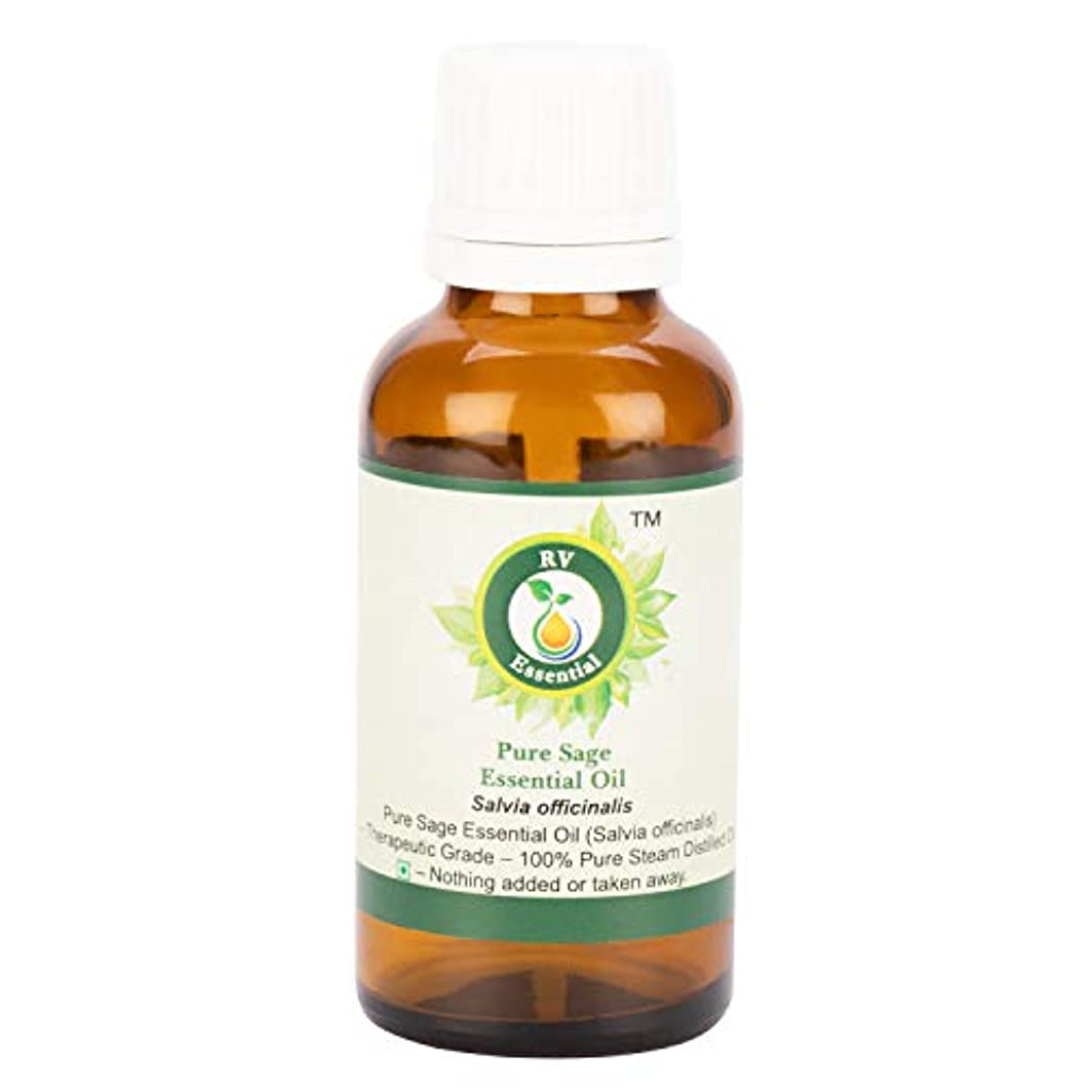 学部隔離するエゴイズムピュアセージエッセンシャルオイル100ml (3.38oz)- Salvia Officinalis (100%純粋&天然スチームDistilled) Pure Sage Essential Oil