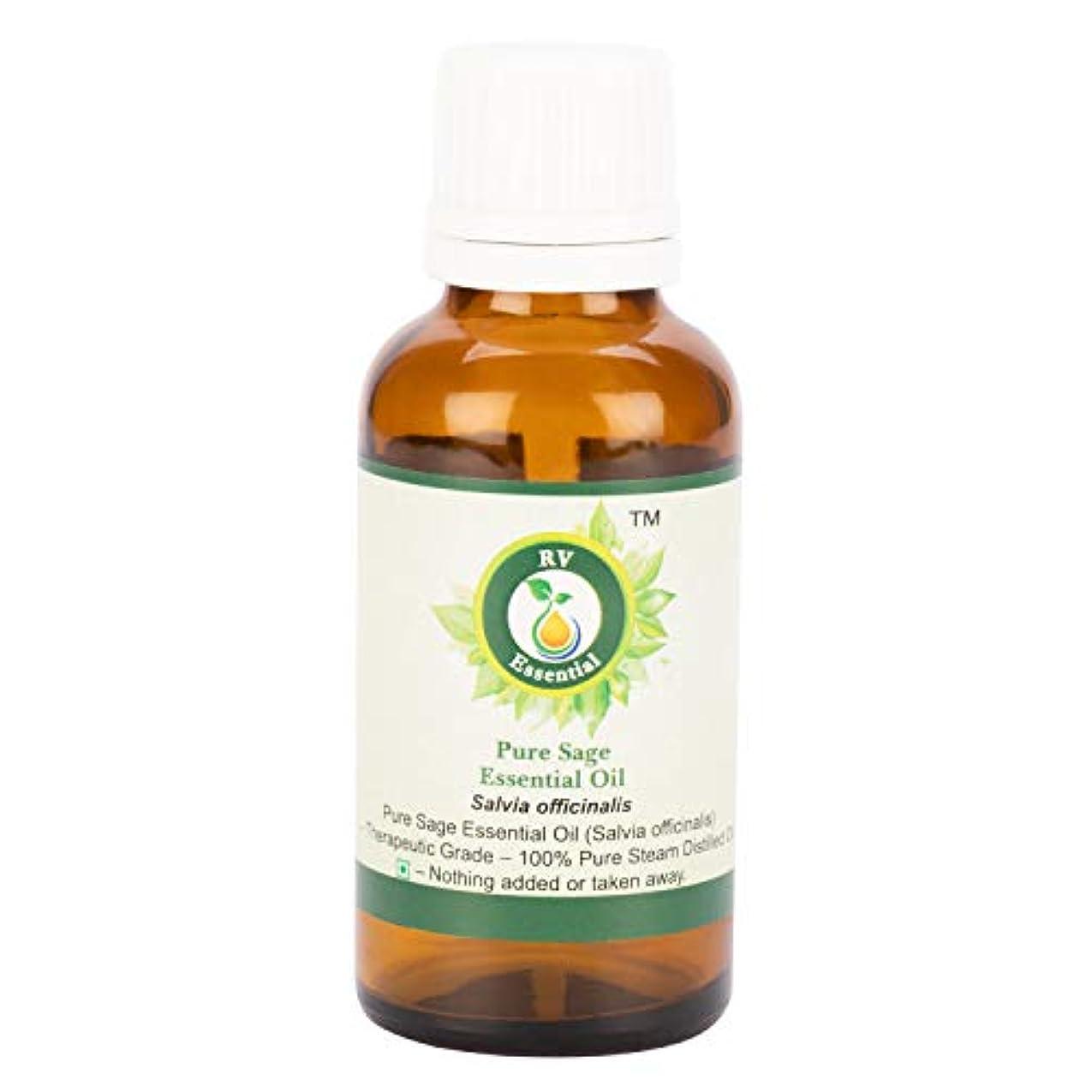 伴う科学者冗長ピュアセージエッセンシャルオイル100ml (3.38oz)- Salvia Officinalis (100%純粋&天然スチームDistilled) Pure Sage Essential Oil