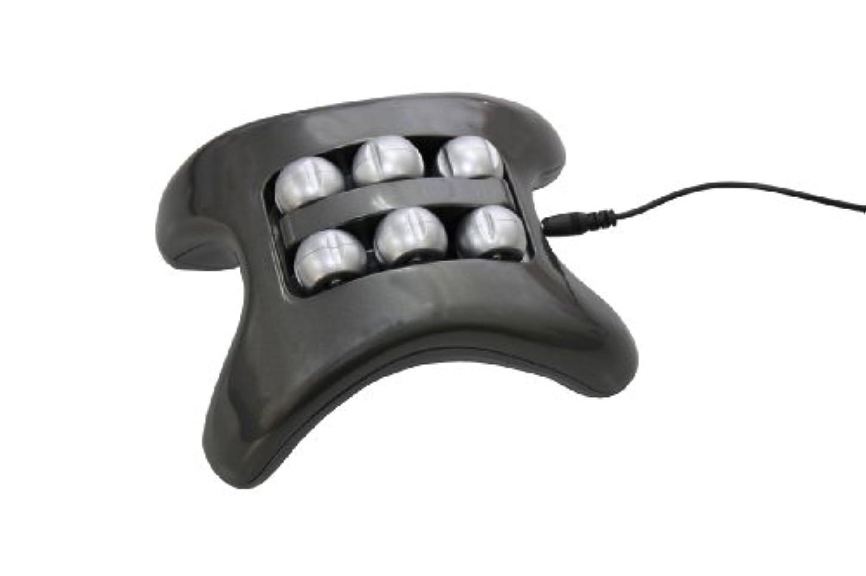 クリップ逸話歯車フットリフレッシュ 楽足くん 2WAY電源 単三電池&PC(USB接続)対応 (メタリックグレー)