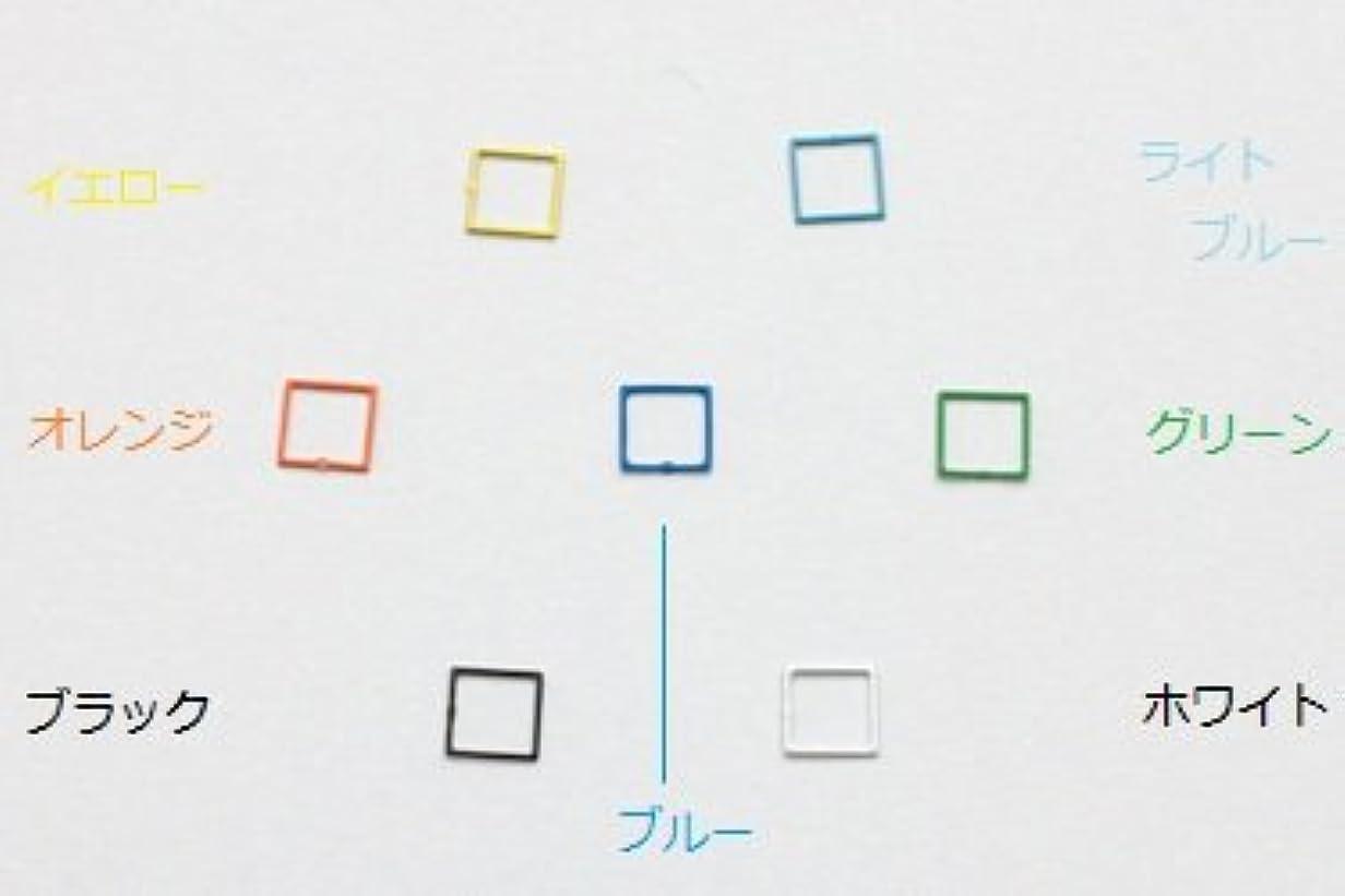 [リトルプリティ] メタリックネイルパーツ スクエアS (ブラック)