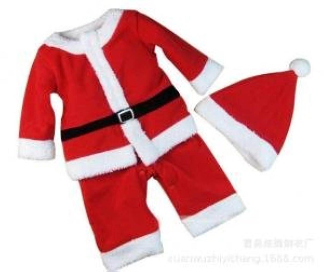論理ノイズ誓いZhaozhe子供 クリスマス ベビー サンタ コスチューム 衣装 帽子付き レッド おもちゃ 着ぐるみ90cm/100cm/110cm/120cm