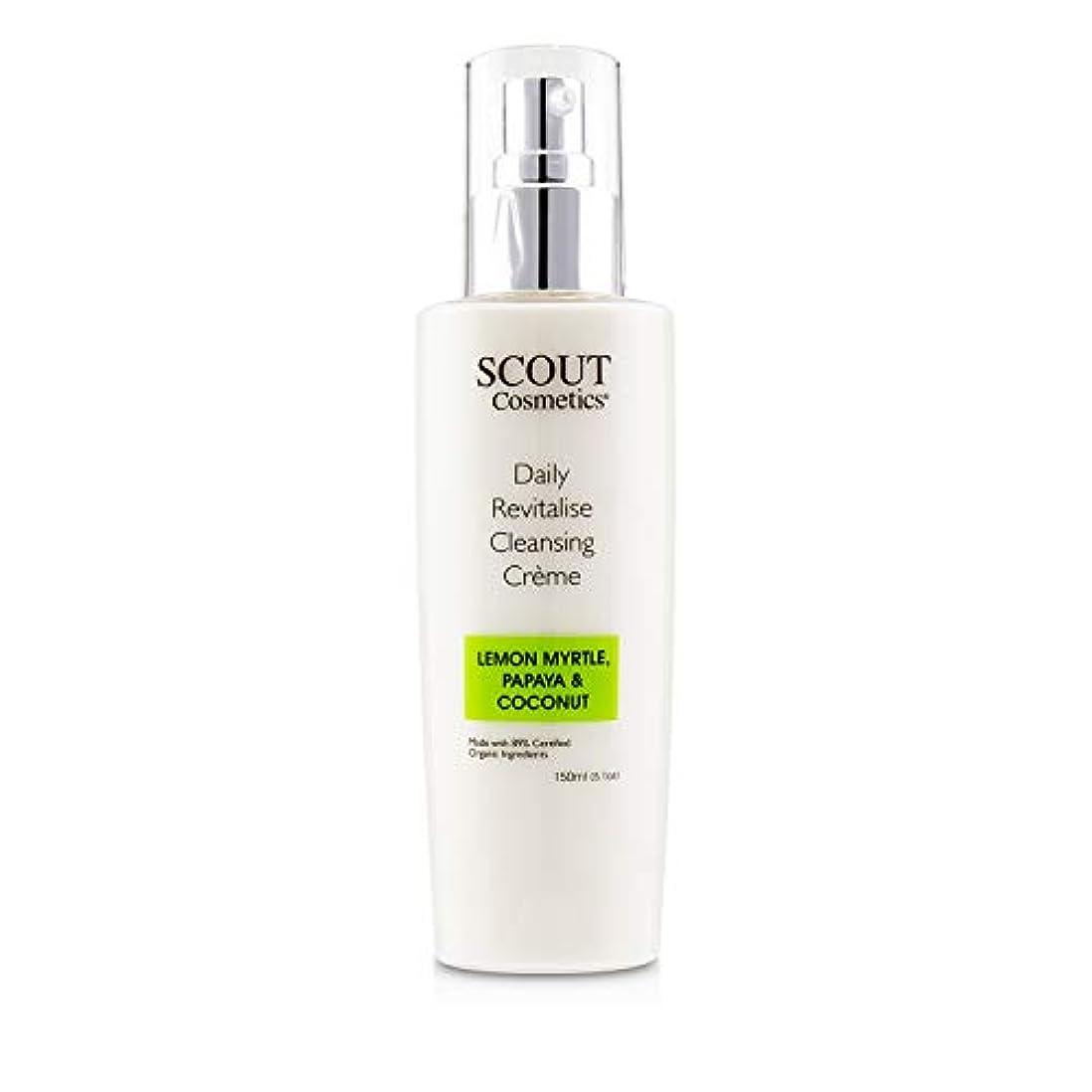 冊子むさぼり食う火薬SCOUT Cosmetics Daily Revitalise Cleansing Creme with Lemon Myrtle, Papaya & Coconut 150ml/5.1oz並行輸入品