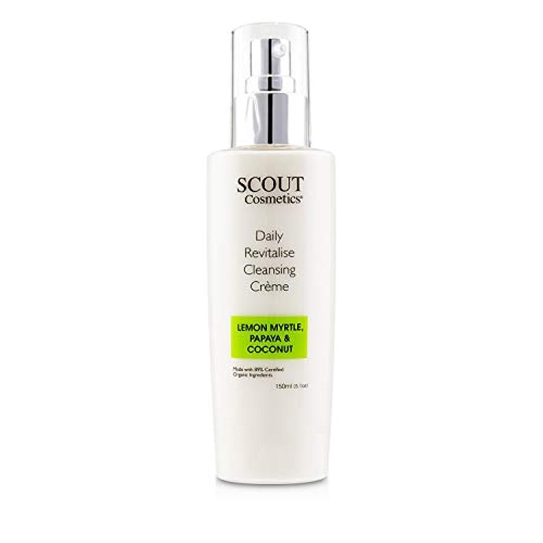 酸実行する分数SCOUT Cosmetics Daily Revitalise Cleansing Creme with Lemon Myrtle, Papaya & Coconut 150ml/5.1oz並行輸入品