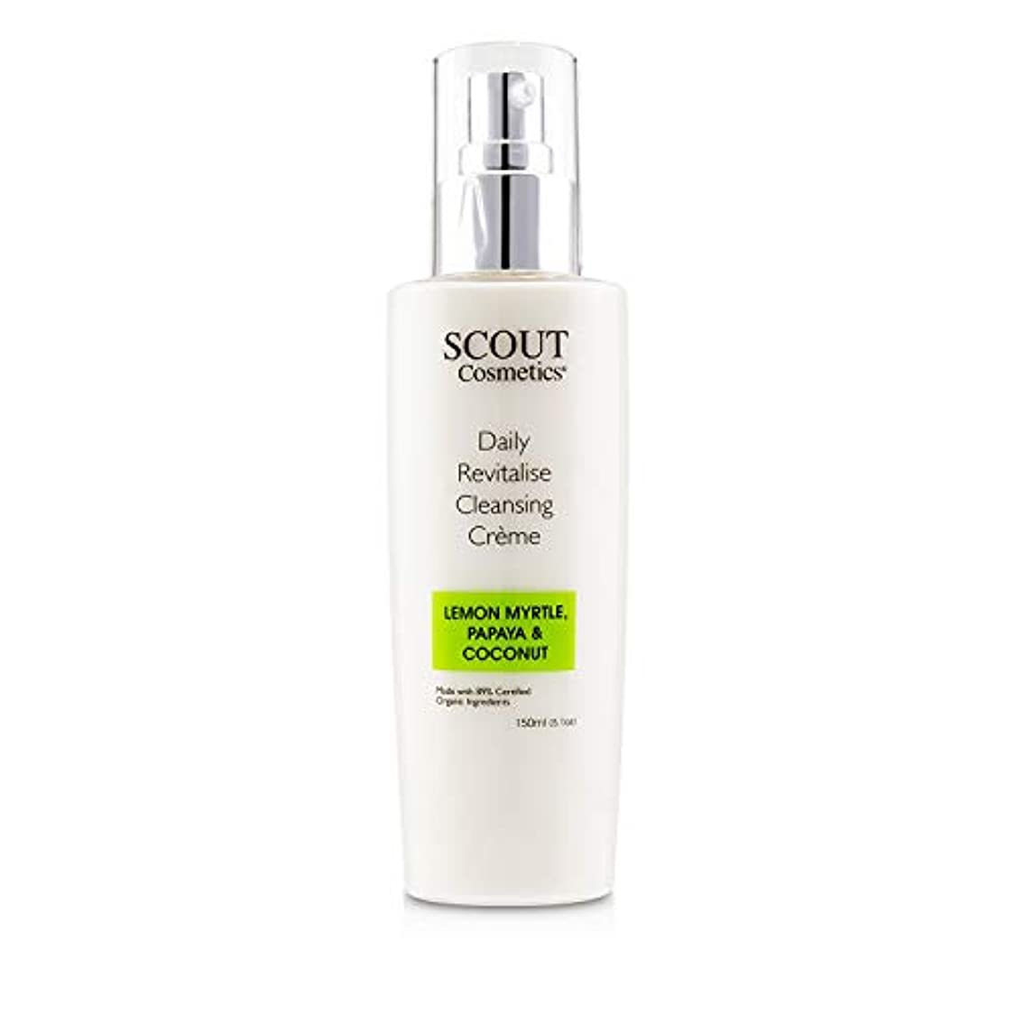 前に悪質な主観的SCOUT Cosmetics Daily Revitalise Cleansing Creme with Lemon Myrtle, Papaya & Coconut 150ml/5.1oz並行輸入品