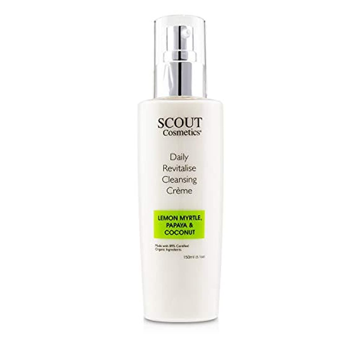 SCOUT Cosmetics Daily Revitalise Cleansing Creme with Lemon Myrtle, Papaya & Coconut 150ml/5.1oz並行輸入品