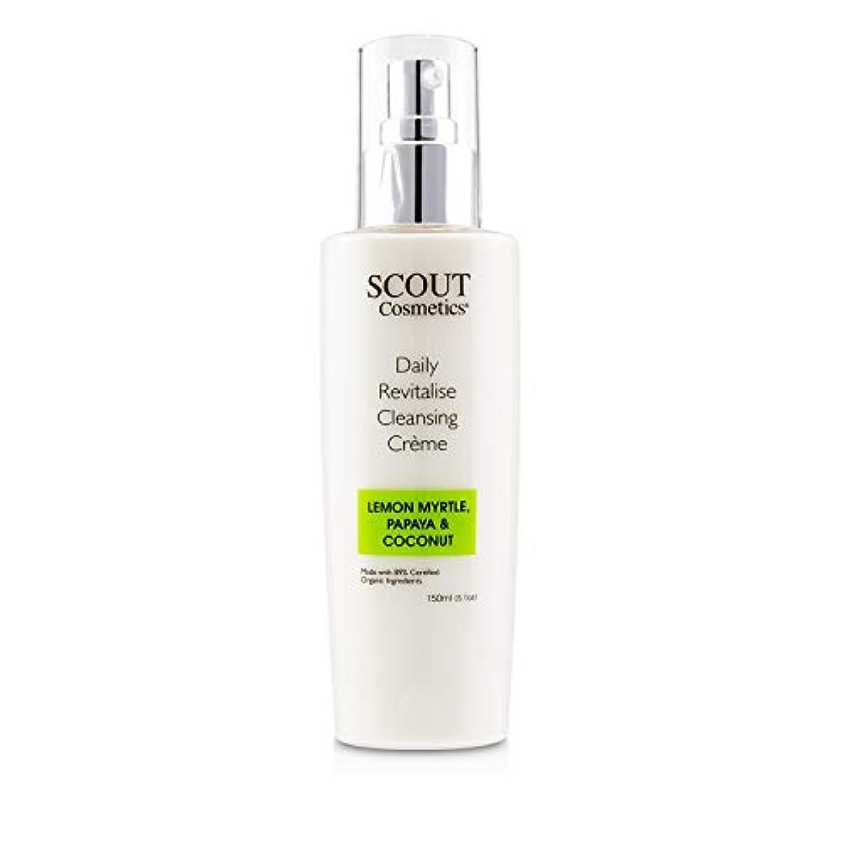 タフ変形知性SCOUT Cosmetics Daily Revitalise Cleansing Creme with Lemon Myrtle, Papaya & Coconut 150ml/5.1oz並行輸入品