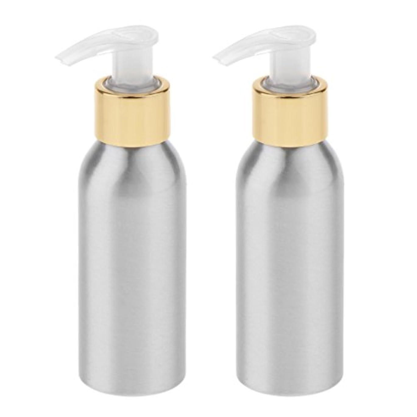 畝間版技術的なBlesiya 2本 スプレーボトル ポンプボトル アルミボトル 噴霧器 香水ボトル 通勤/旅行/出張 便利 6サイズ選択 - 120ml