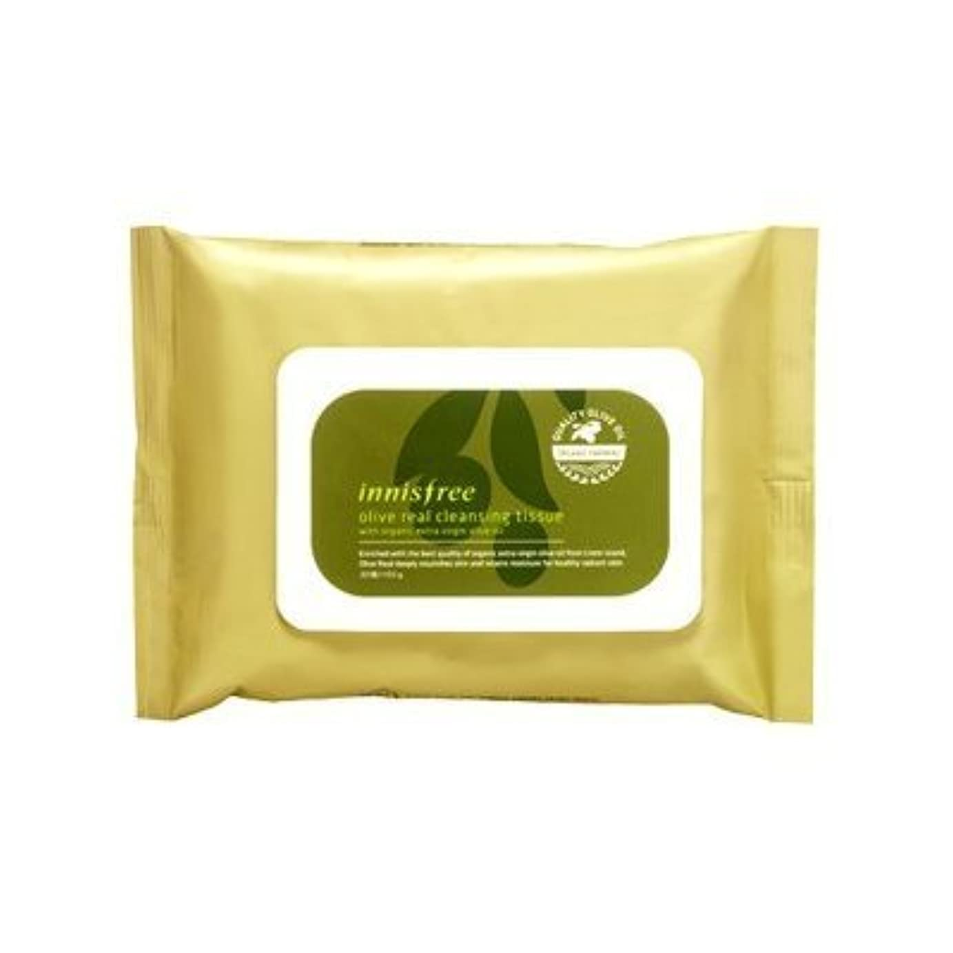 交通交じる熟練したInnisfree Olive Real Cleansing Tissue (30 sheets)