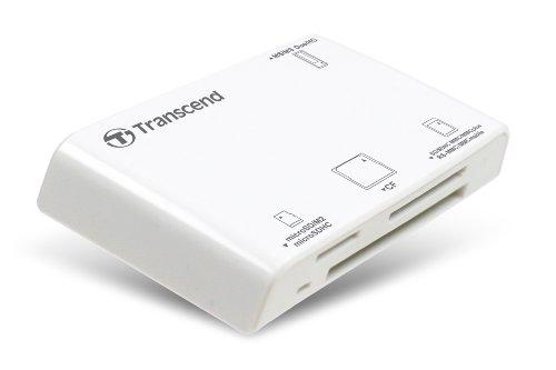 Transcend USBマルチカードリーダー/ライター P8 ホワイト TS-RDP8W