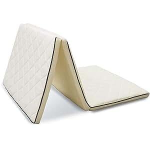 アイリスオーヤマ エアリー マットレス 三つ折り 厚さ5cm 高反発 リバーシブル 通気性 高耐久性 抗菌防臭 洗える シングル ホワイト MARS-S