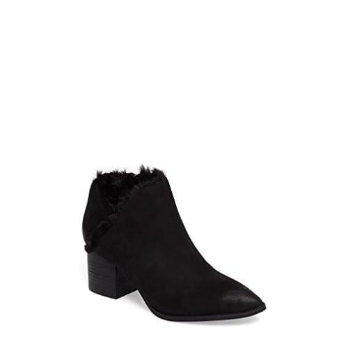 セイシェルズ シューズ ブーツ&レインブーツ Seychelles Preview Faux Fur Lined Bootie Black Leat [並行輸入品]
