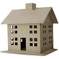 Pa Paper Mache 3d House SmallスタイルA