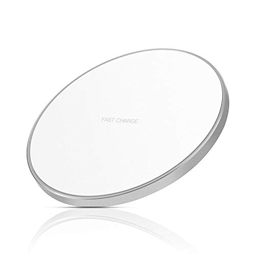 IMDEN Qi ワイヤレス 充電器 qc 3.0 10W 発熱対策 急速 無線 充電 超薄型 軽量 呼吸ランプ付き 多重保護 車載 ワイヤレスチャージャー スマホ充電器 LEDカラ フルなライト付き置くだけ充電 microUSB接続 iPhone 8/iPhone 8Plus/iPhone X/Galaxy S8/S8 plus/S7/S7 Edge/Nexus/LG G6/Xperia他のQi対応 の機種 対応 日本語説明書付き (白)