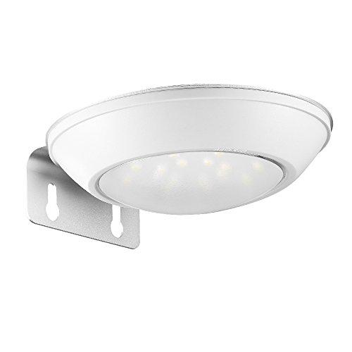 AVANTEK LED ソーラーライト 人感センサーライト 防水IP65 屋外照明/軒先/壁掛け/庭先/玄関周り庭などに屋外照明用 夜間自動点灯 ホワイト LE-002