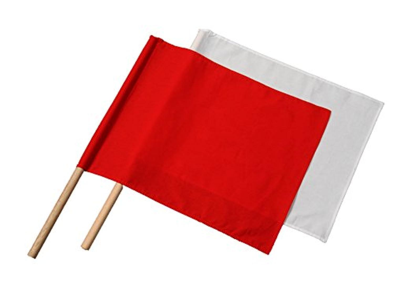 TOMAC(トマック) 紅白棒付手旗セット綿 RW-C