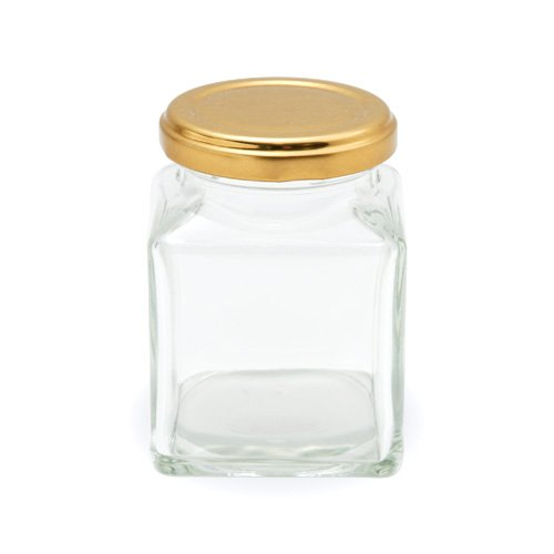 小分け保存用ジャム瓶(185ml角) / 1個 TOMIZ/cuoca(富澤商店) キッチン雑貨 保存容器