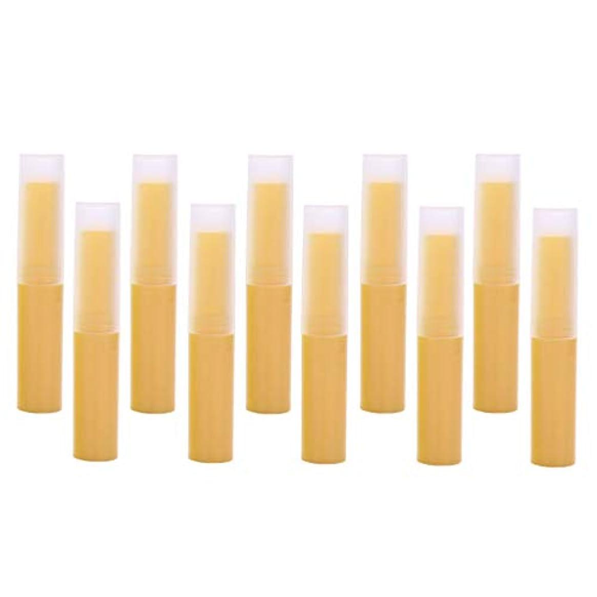 いらいらする年金受給者下着P Prettyia 7色 10個 空の口紅の管 リップクリーム容器 DIY化粧道具 - イエロー
