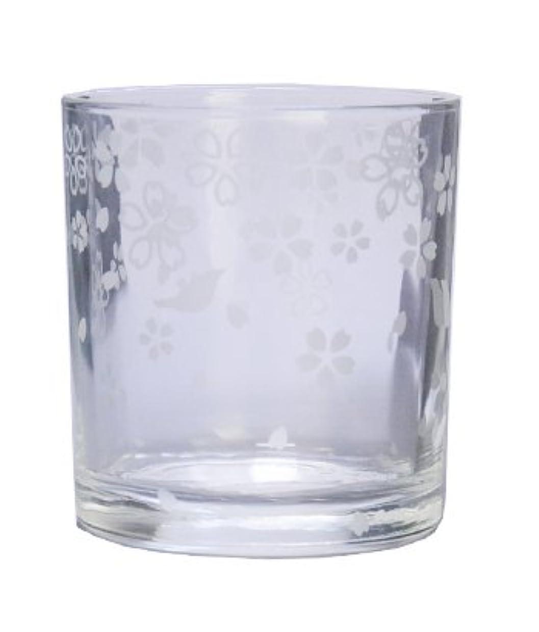 半島例示するどういたしましてキャンドルホルダー?エッチンググラス?サクラ/1個