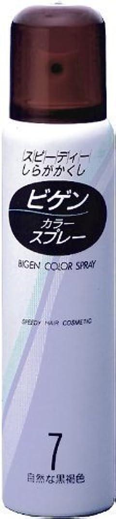 コンセンサスストローアラブ人ホーユー ビゲン カラースプレー 7 (自然な黒褐色) 82g(125mL) ×4個