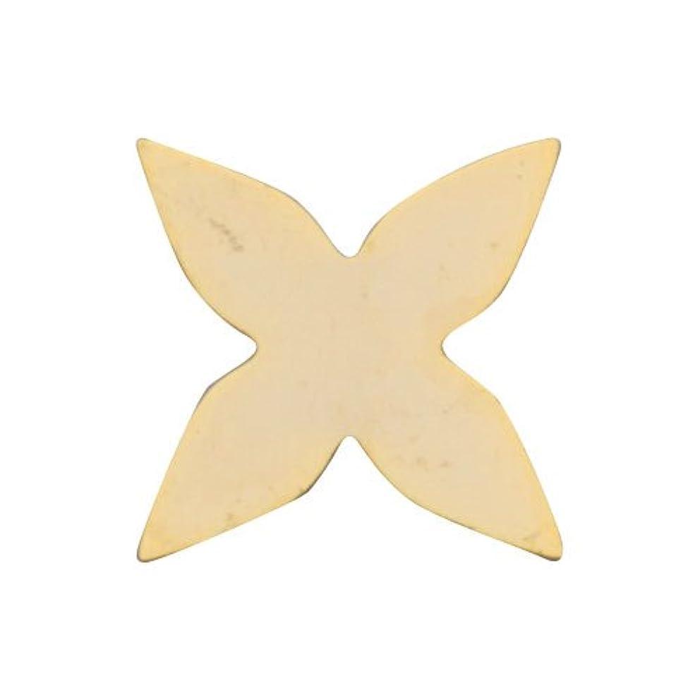 やさしいめまいキャッシュリトルプリティー ネイルアートパーツ 新ガクアジサイプレーン ゴールド 10個