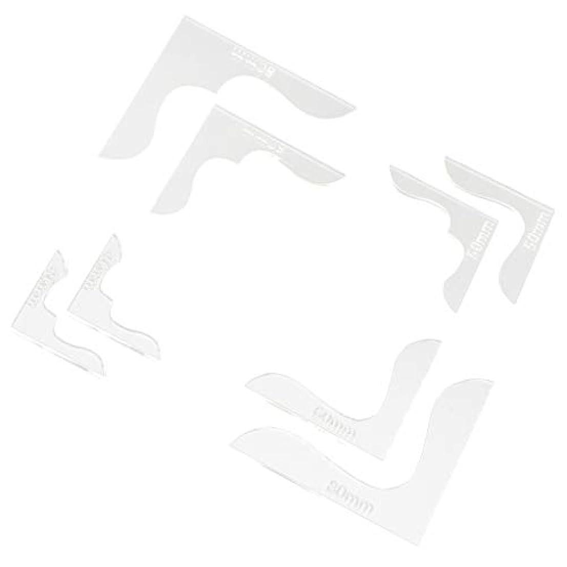 ラフレシアアルノルディ収容するグリットレザークラフト 革工芸 角花 アクリル モールド 製図用 コーナー テンプレート 透明 軽量 8本入