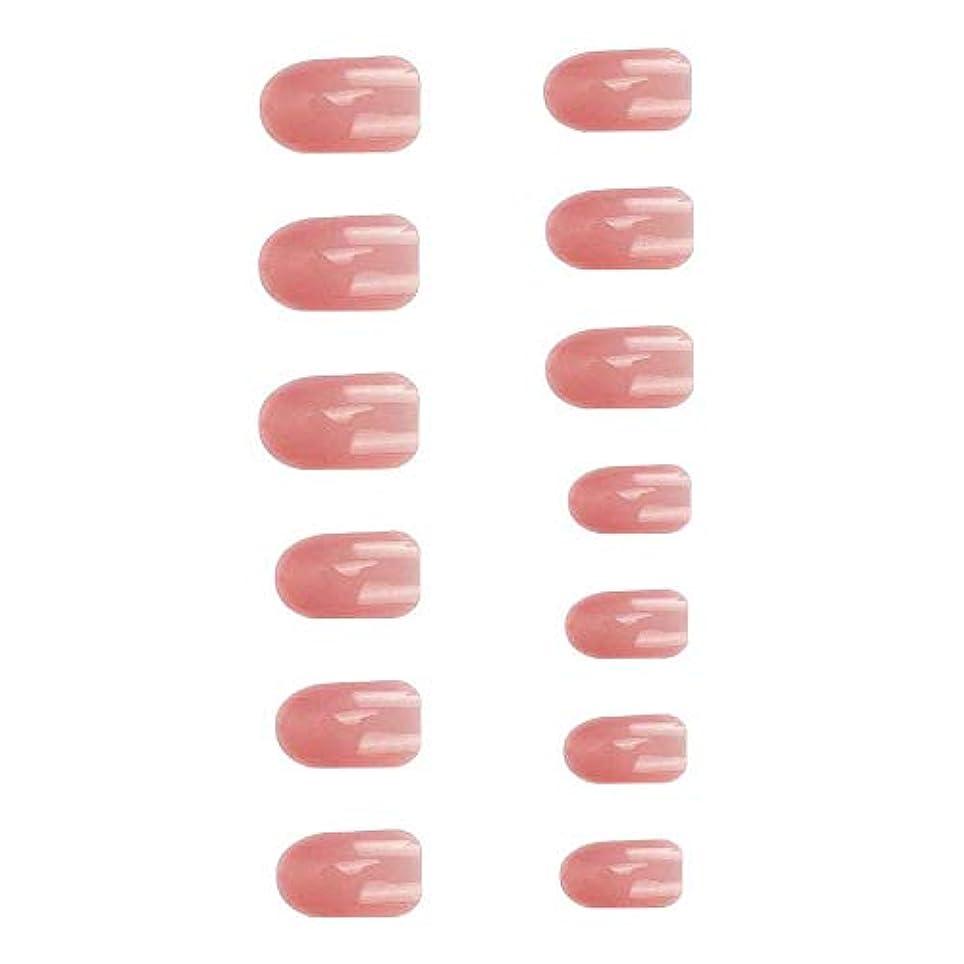 コークス遅れ王朝24枚 可愛い ウェディング ブライダル 優雅 短い ネイルチップ 夏の 透明
