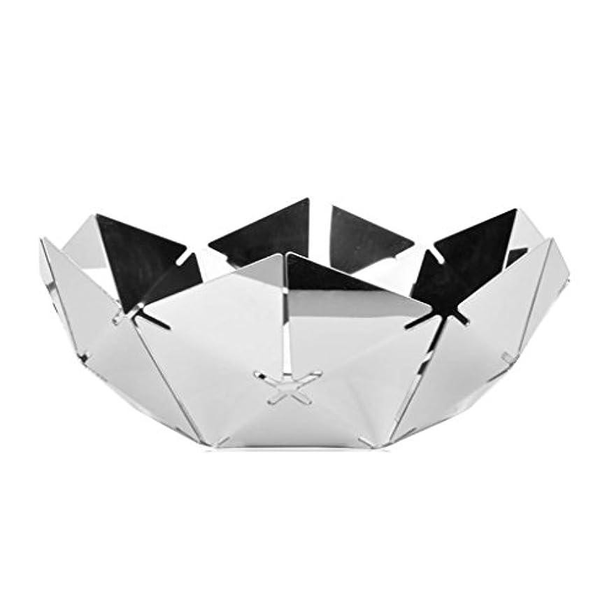 ばかげた悪行歴史家銀製の水立方体のステンレス鋼のフルーツプレート、ミラーの中空フルーツプレート29.8 * 11 cm。