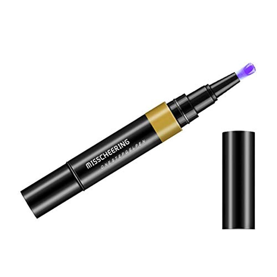 エンドウ電圧科学Toygogo ジェル マニキュアペン ワニスラッカー ネイルアートペン 3 イン 1 サロン 初心者 セルフネイル DIY - ライトパープル