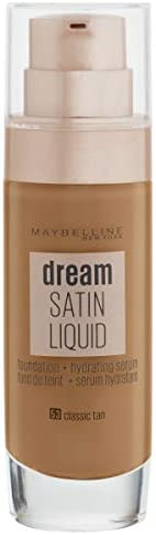 Maybelline Dream Satin Liquid Foundation with Hydrating Serum  - Classic Tan 53