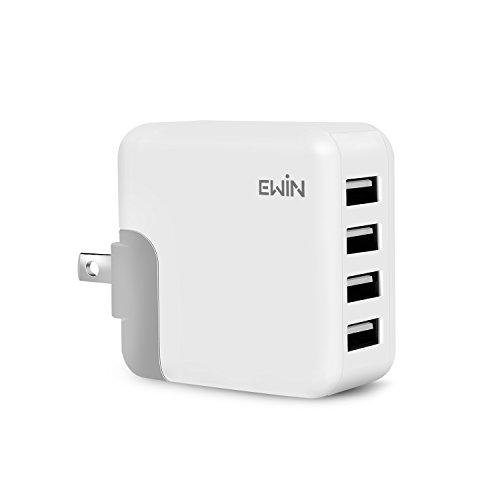 Ewin USB充電器 24W急速充電 4USBポート AC...