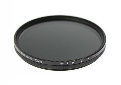 Nikon D500 16-80 VR レンズキット(AF-S DX NIKKOR 16-80mm f/2.8-4E ED VR)用 互換可変ND(ND2〜ND400) フィルター 72mm
