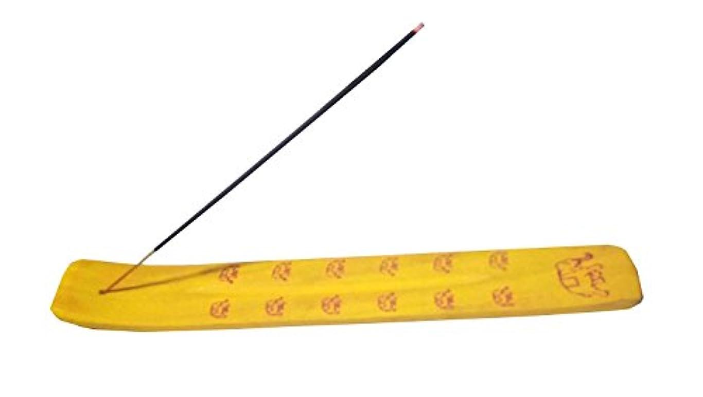 悪行砂漠撃退するThanks GivingプレゼントにLoved Ones Incense Burner – Traditional Incense Holderカラー(イエロー)ゾウのデザインon it、10インチ
