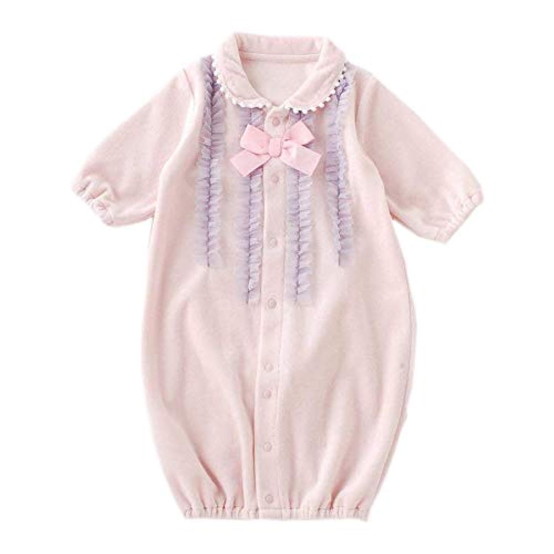 (チャックルベビー) chuckle BABY スウィートガール チュール フリル ベロア 新生児ツーウェイオール ピンク P5234E-00-20