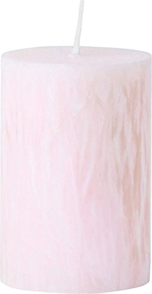 会計の頭の上急性カメヤマキャンドルハウス パームマーブルピラーキャンドル 直径5cm×高さ7.5cm シェルピンク