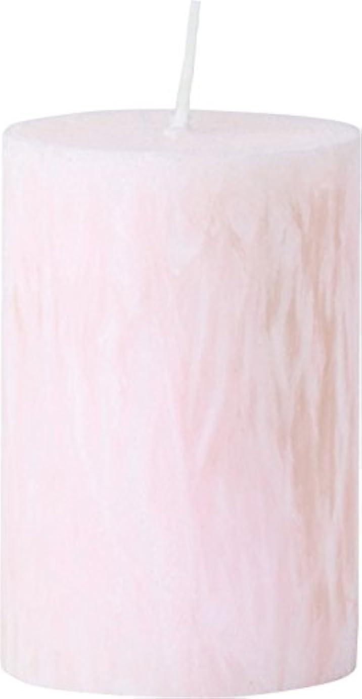 付ける松の木ドックカメヤマキャンドルハウス パームマーブルピラーキャンドル 直径5cm×高さ7.5cm シェルピンク