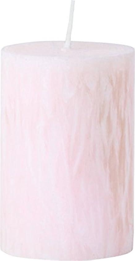甲虫パトワコーナーカメヤマキャンドルハウス パームマーブルピラーキャンドル 直径5cm×高さ7.5cm シェルピンク