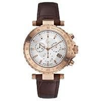 Guess Collection GCメンズクロノグラフローズゴールドCase w/ブラウンレザーバンド腕時計、x58004g1s