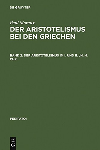 Der Aristotelismus im I. und II. Jh. n.Chr (Peripatoi 6) (German Edition)