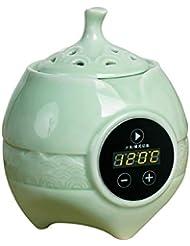アロマディフューザー LCD温度制御 香炉、 電気セラミック 寒天 エッセンシャルオイル アロマテラピーディフューザー、 ホーム磁器、 バルコニー、 ポーチ、 パティオ、 ガーデンエッセンシャル セラミック電気香炉