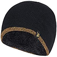Heat Holders Men's Thick Fleece Lined Winter Warm Thermal WRK Work Beanie Hat