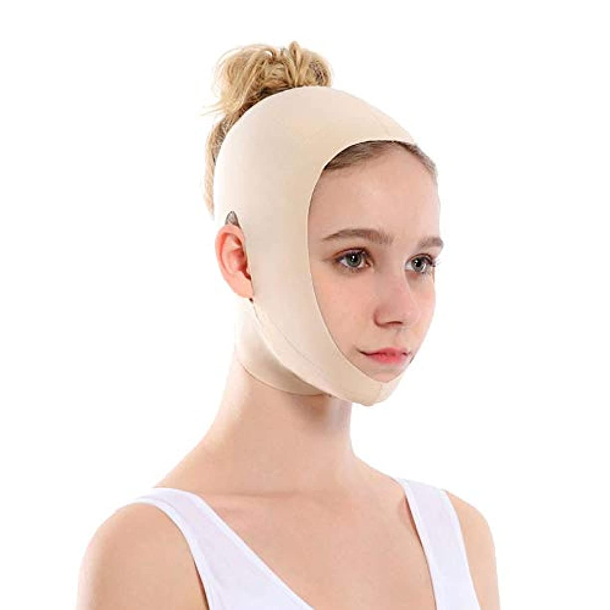 湿度通信網哲学者GYZ 顔を持ち上げるアーティファクトVフェイス包帯リフティング引き締め睡眠薄い顔を整形持ち上げる顔を二重あご矯正 - 肌の色 Thin Face Belt