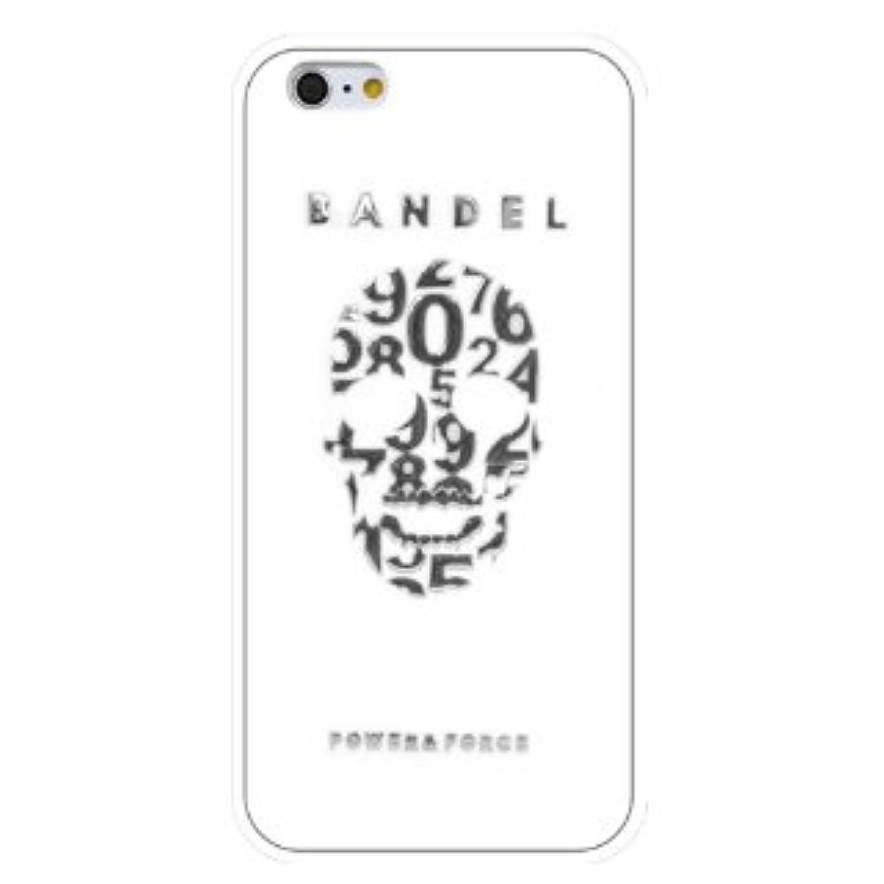 船形少なくとも擬人化バンデル(BANDEL) スカル iPhone 7専用 シリコンケース [ホワイト×シルバー]