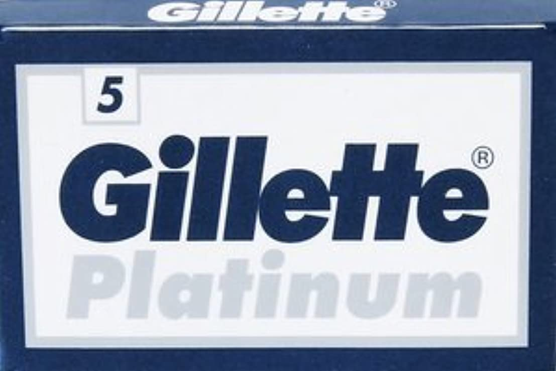 後退する地域の素晴らしいGillette Platinum 両刃替刃 5枚入り(5枚入り1 個セット)【並行輸入品】