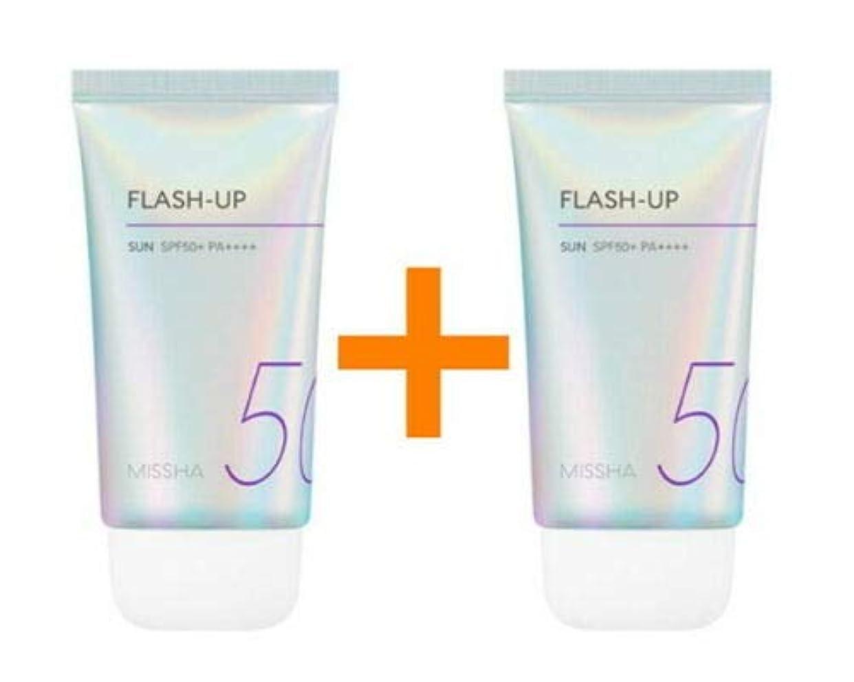 バトル困った体[1+1] MISSHA ミシャ Flash-Up Sun 50ml SPF50+/PA++++ 韓国日焼け止め